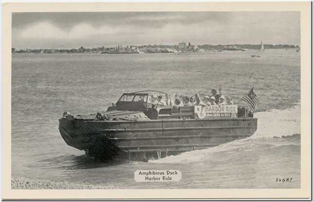 Gloucester duck harbor ride postcard