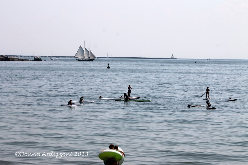 July 17, 2013 busy Gloucester Harbor