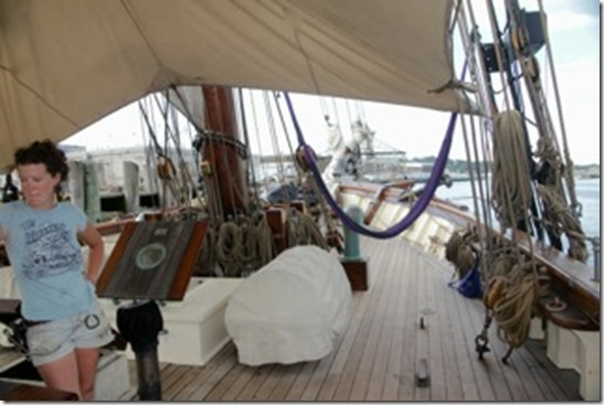 Amistad bow with crew Whitney