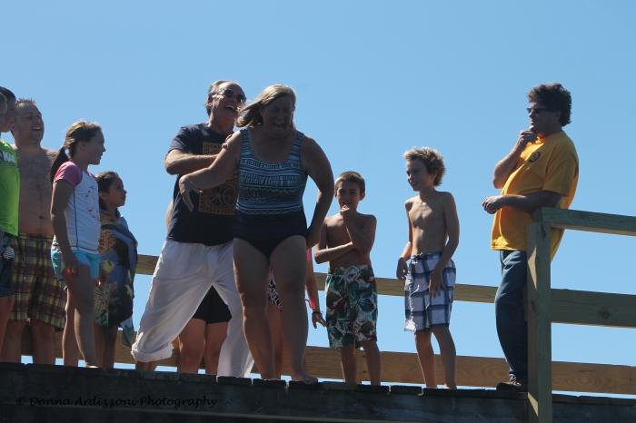 August 24, 2013 Mayor Kirk jumping off Magnolia Pier