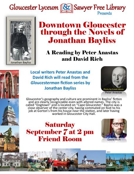 Bayliss 9-7-2013 Downtown EBLAST  Gloucester through the Novels of Jonathan     Bayliss
