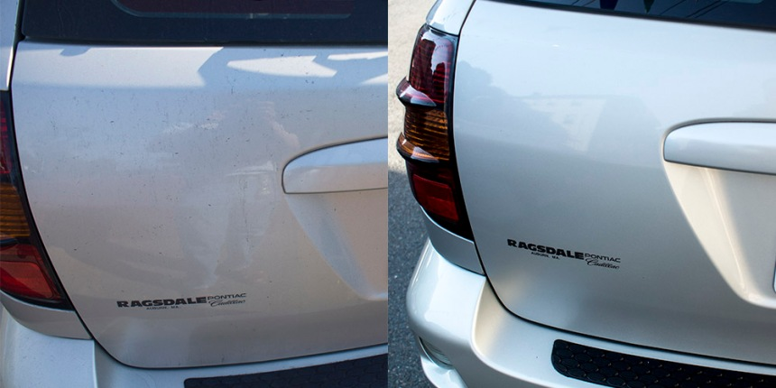 _Car exterior before and after