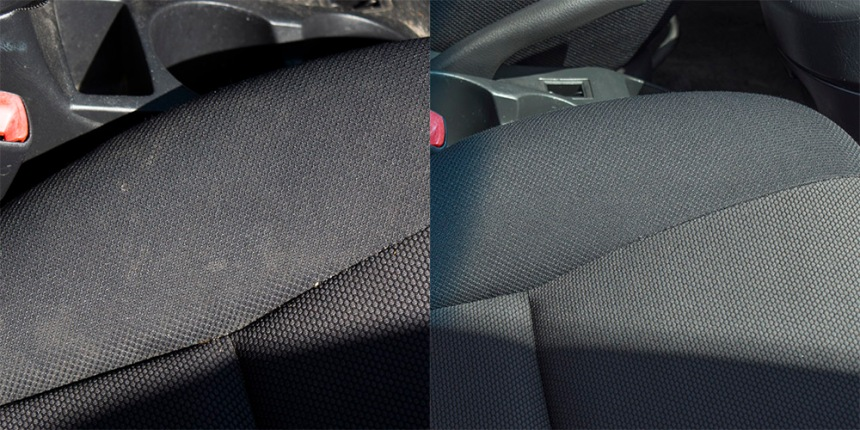 _Car upholstery before and after