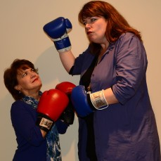 Divas Kathy St. George and Kerry Dowling battle for center stage in Gloucester