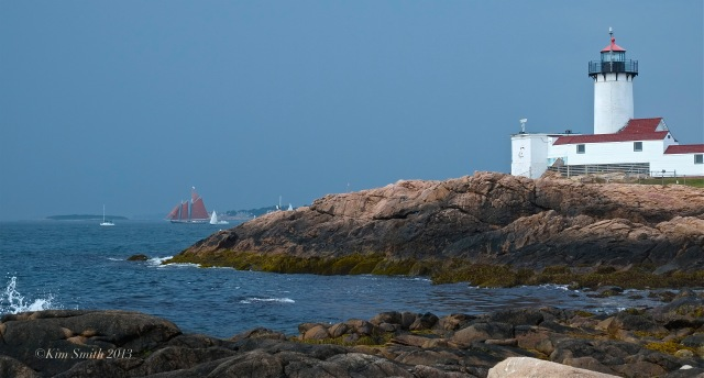 Eastern Point Lighthouse Schooner Roseway ©Kim Smith 2013