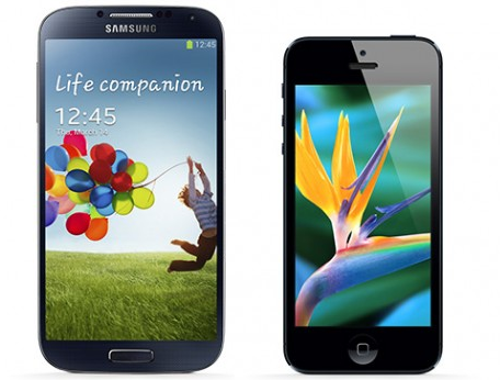 Samsung Galaxy s4 size vs iPhone Size