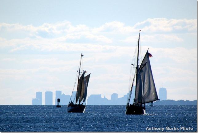 Sailing past The Boston Skyline