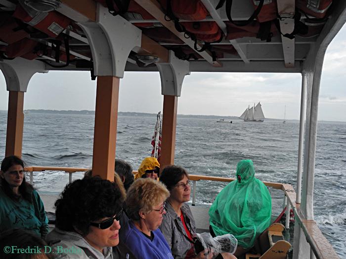 Passengers getting wet.
