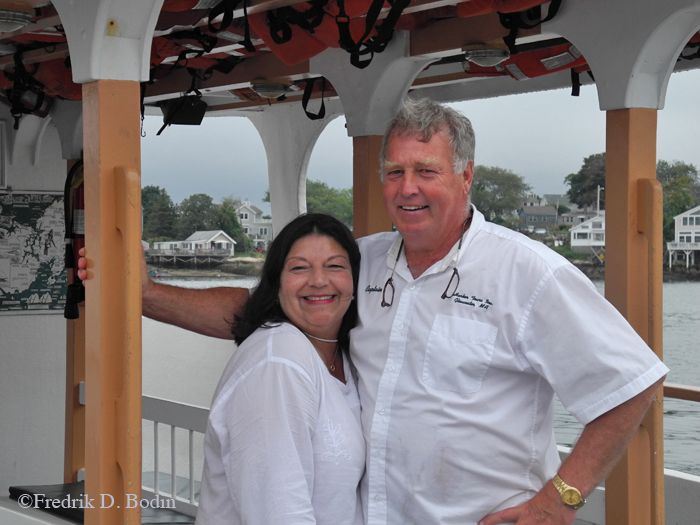 Steven Douglass with first mate and wife Virginia. A totally good experience.