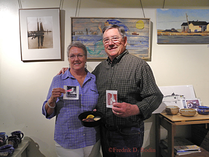 Sharon St Clair King and Chuck King are in the gallery for their annual Cape Ann fix. Sharon is always on my Facebook Page, and also on Good Morning Gloucester.