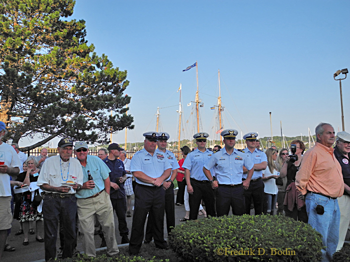 The Mayor's Reception was held at the Gloucester Coast Guard Station. They were extremely hospitable.