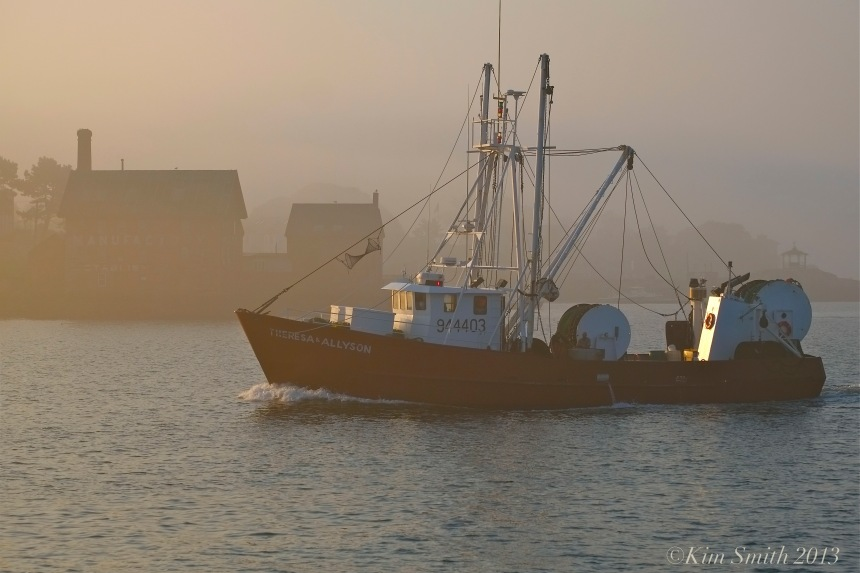 Theresa and Allyson Stern Trawler Gloucester Fishing Boat ©Kim Smith 2013