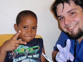 Paul at the Holy Family Parish Dominican Medical Mission