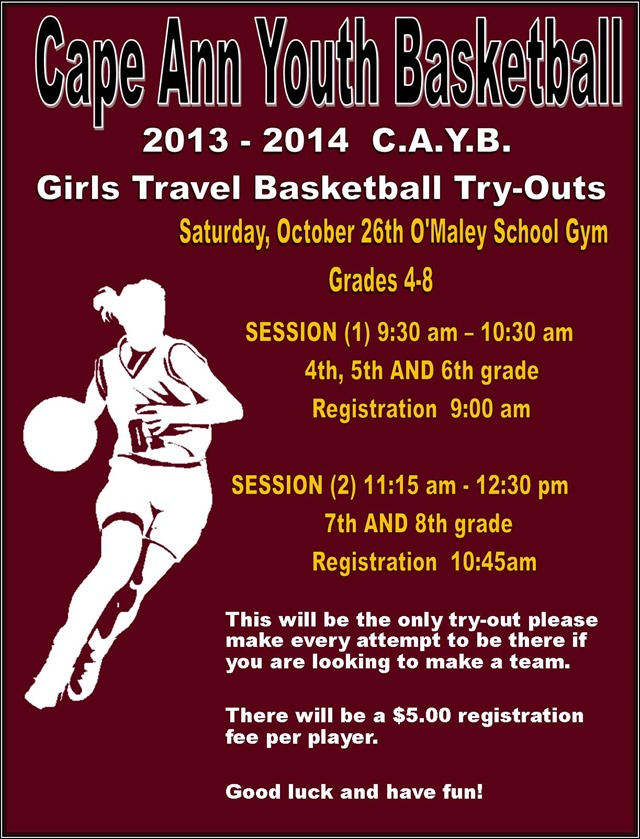 2013 CAYB Tryouts