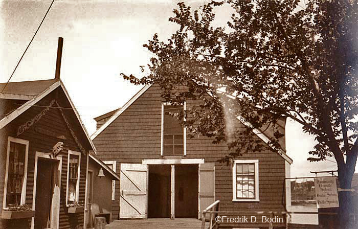 """In view of Rocky Neck going into the winter mode, I thought I'd post a few photos this week. This is """"The Little Theater and Community Drama School (CDS) and the Boston School of Public Speaking"""" on Rocky Neck. It was run by  Ms. Cunningham."""