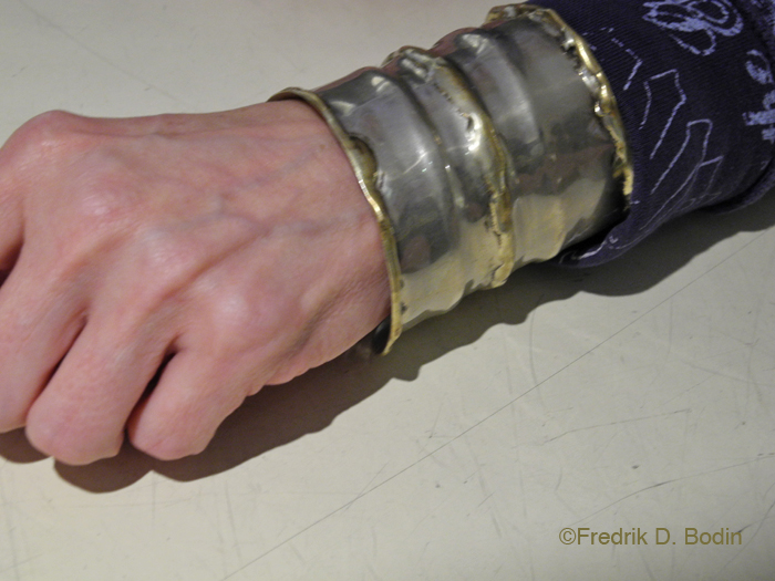 Shortly thereafter, Sandy left the gallery soon and returned with a gift for Diana, a huge silver cuff. They had just met minutes before in my gallery and I am speechless. Neither of these women will forget this for the rest of their lives, and neither will I.
