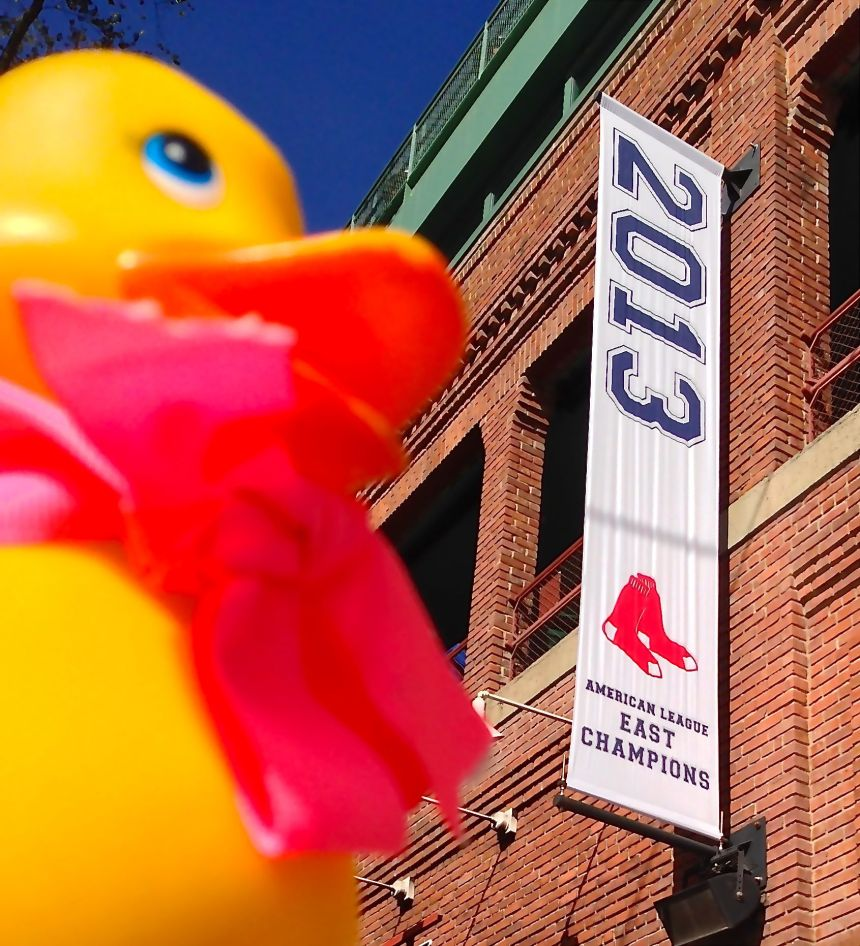 Rubber Duck can't wait to see a blue flag (American League Pennant) then red (World Series Champions 2013)