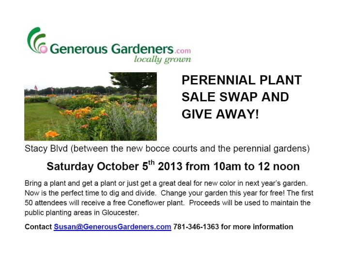 Fall Plant Swap and Give Away