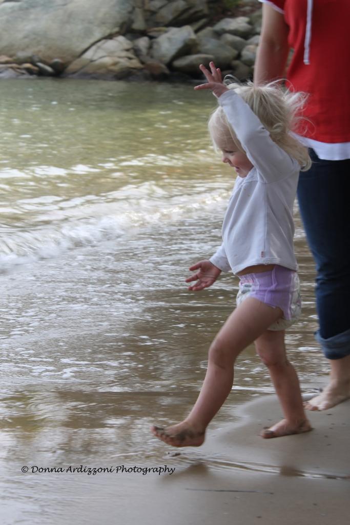 October 19, 2013 Avery having fun at Half Moon Beach