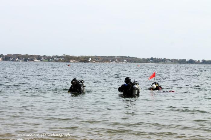 October 19, 2013 divers at Half Moon Beach