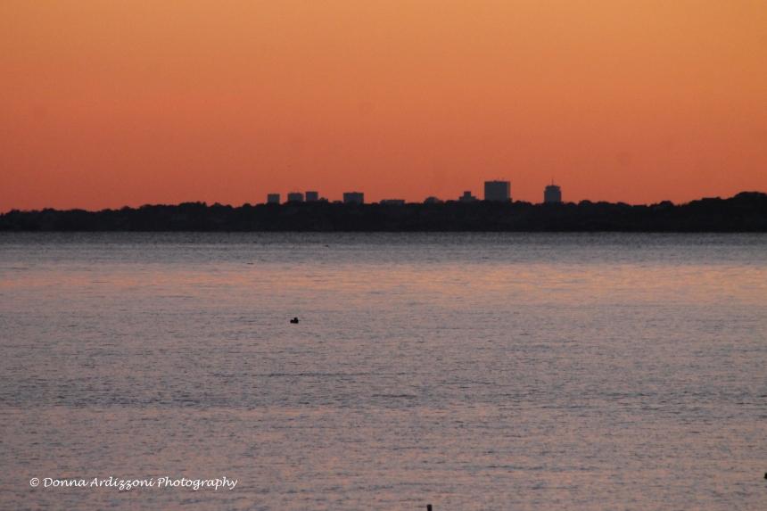 October 25, 2013 the skyline of Boston