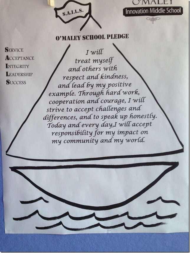 O'Maley Innovation Middle School's New Pledge