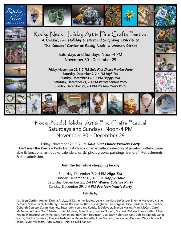 rocky neck holiday festival poster