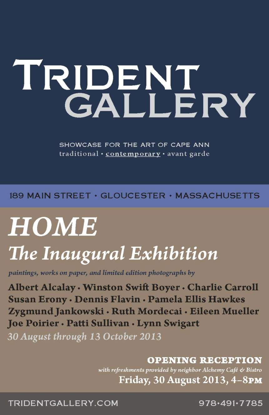 Trident Gallery - Home The Inaugural Exhibition postcard