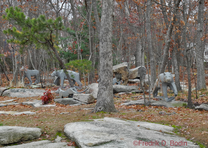 These are more of the amazing granite sculptures. Does anyone know the story behind them? Let us know.