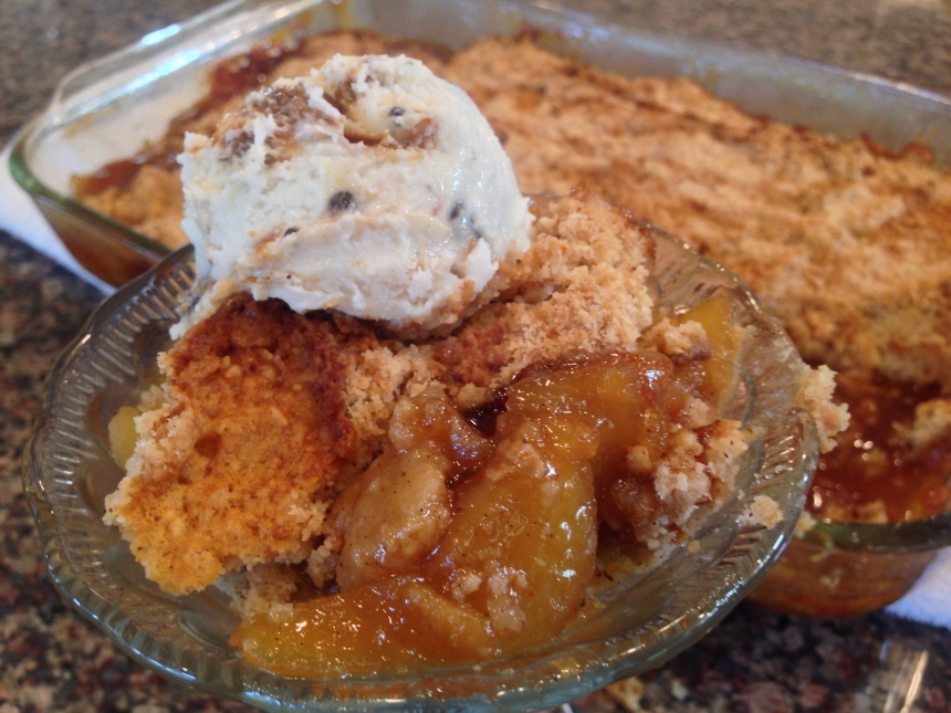 apple crisp with cream