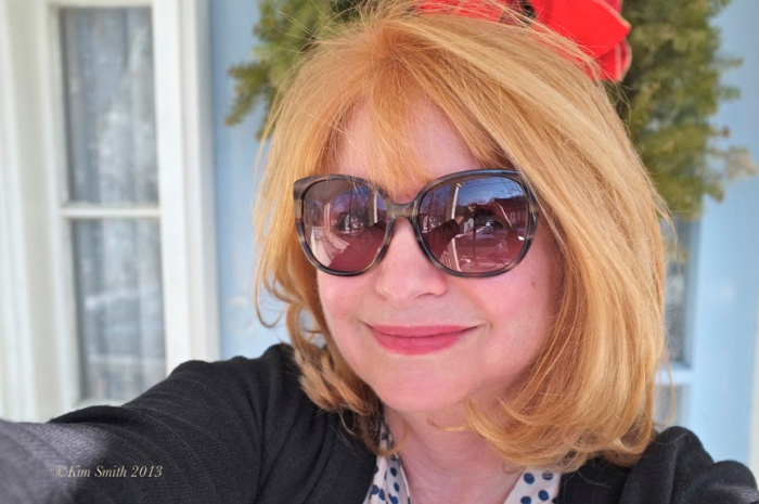 Hi Paul-- I like this selfie because you can see my camera so clearly in the reflection of the sunglasses. My daughter asked to see a photo of my new haircut last winter. I ran out the front door and took this in about thirty seconds. xKim