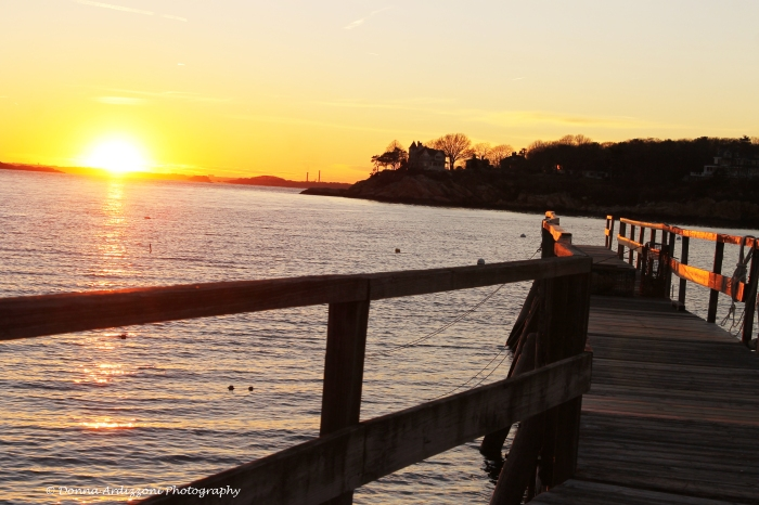 November 25, 2013 pier with the sun going down