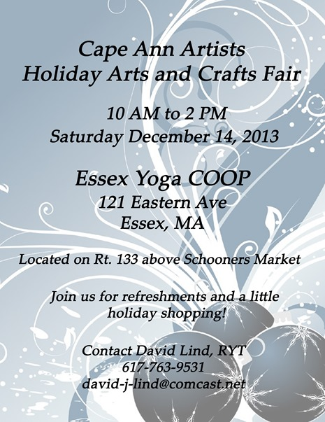 Cape Ann Artist Fair flyer