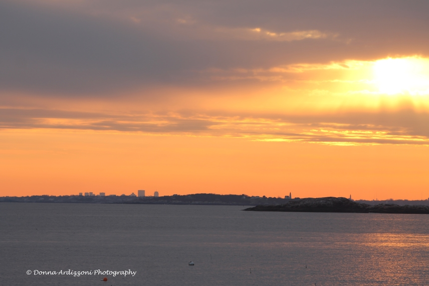 December 4, 2013 another fantastic sunset with Boston in  the Foreground