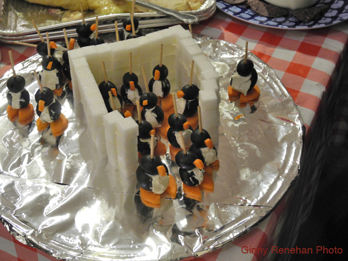 Melissa Cox, our Ward 2 City Councilor, came to the GMG Holiday party and brought her famous penguin platter, only this time they appeared to be marching out of their fortress made of sugar cubes.
