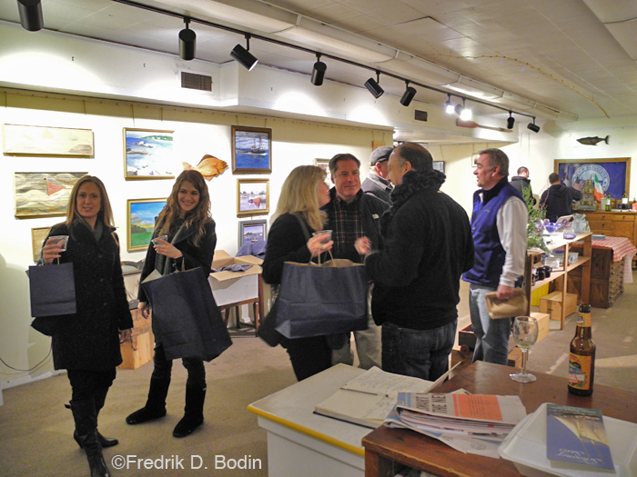 "We had a very successful Men's Night in the gallery. Lots of customers, and a good amount of sales. I had a surprise visit from my sister, ""Painter Barb."" Joey C. came by twice. Always good to see him. Also from GMG was Lowell Peabody, Craig Kimberly, and Anna and James Eves of Cape Ann Glicee. Big shout-out to Donna Ardizonni, who helped me clean up and get ready for this event."