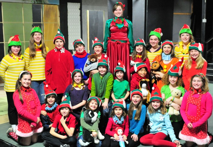 Mrs. Claus and the elves in Santa's Workshop Photo by Gary Ng