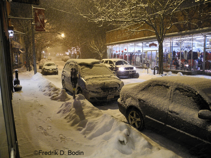 Main Street, Gloucester, at 5pm. Believe it or not, I made some money today. It was busy. Now all I have to do is get home without incident.