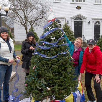 Manchester Sailing Association trims their tree for Festival of Lights