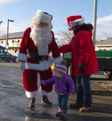 Santa ready to spread some cheer..