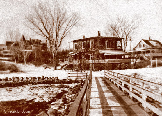 Good Harbor Beach as it looked in 1939. The houses and the bridge are pretty much the same. The snow - well warmer weather is around the corner. Donna Ardizonni was talking about her desire to go to the beach when it warms up. I hope she's patient!