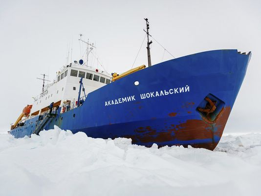 It could be worse, like the plight of the Russian Akademik Shokalskiy research ship, which has been frozen in the ice in Antarctica. One of the rescue ships, a Chinese icebreaker, also got stuck. Thankfully, the wind changed and they're all free of the ice, with no lives lost.