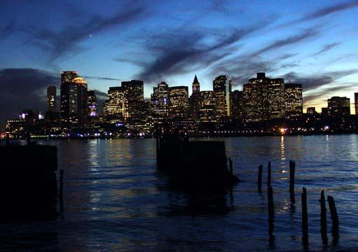 boston skyline from eastie