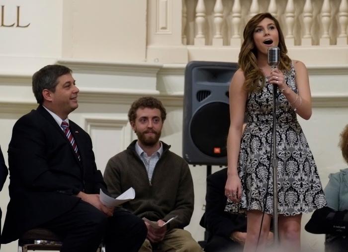 Gloucester High School Student Allison Doody singing Roar