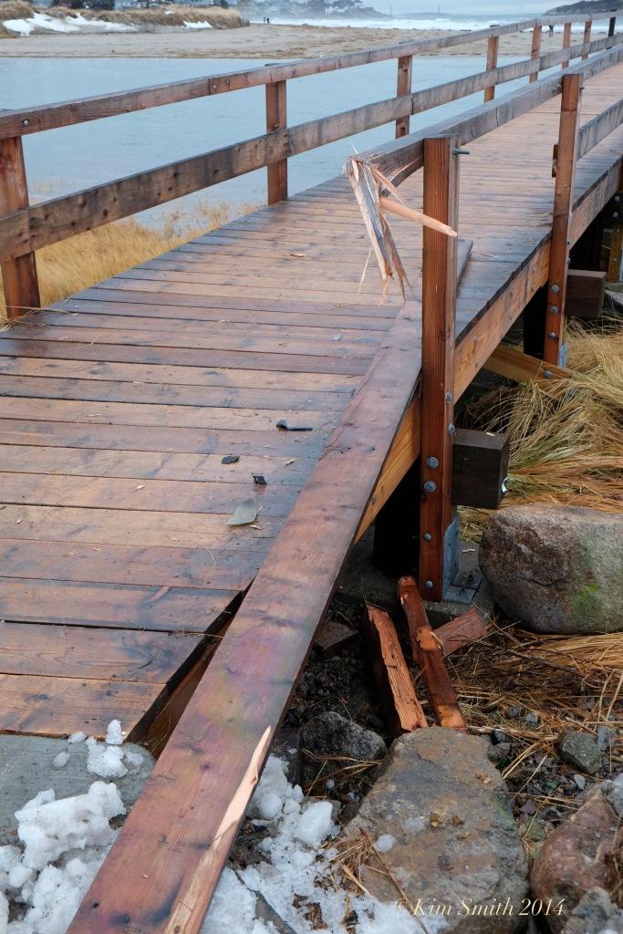 Gloucester Good harbor Beach foot bridge damage -2 ©Kim Smith 2014 copy