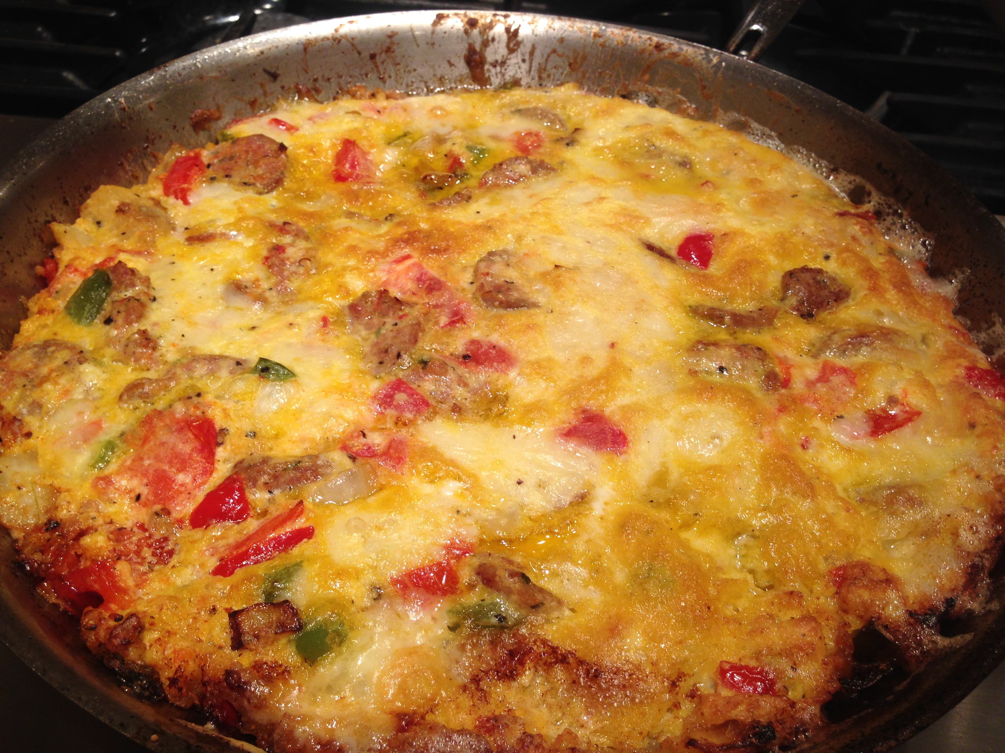 Italian Sausage Pepper and Onion Frittata | GoodMorningGloucester