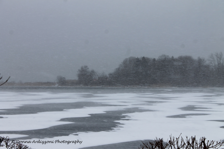 January 2, 2014 blowing snow on Niles Pond