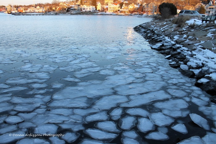 January 23, 2014 ice  on the rocky neck