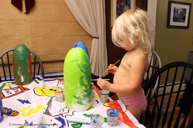 January 4, 2014 2 year old Avery painting her buoy