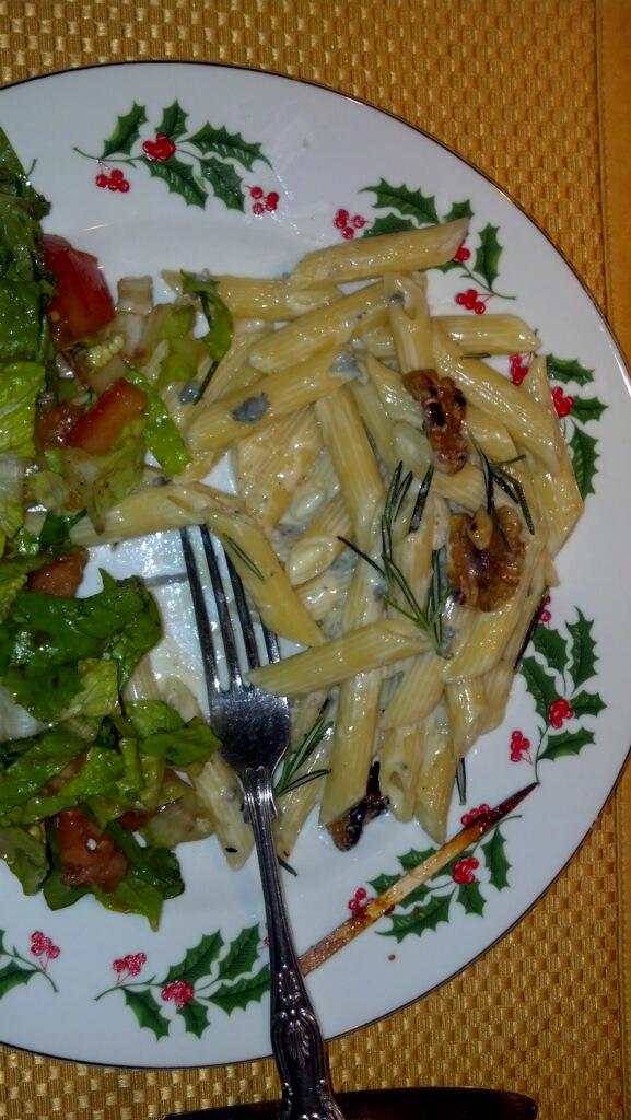 Lia Rix pasta gorgonzola